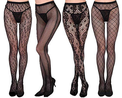Womens Fishnet Tights Fishnet Stockings Patterned Tights Mesh Net Pantyhose by VivilY