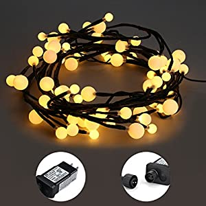 Excelvan Safe Low Voltage Globe String Lights, 8.2ft 72LED Waterproof Outdoor Indoor Fairy Lights Decorative String Lights, 8 Modes for Bedroom Curtains Hall Trees Garden Party Wedding and Christmas