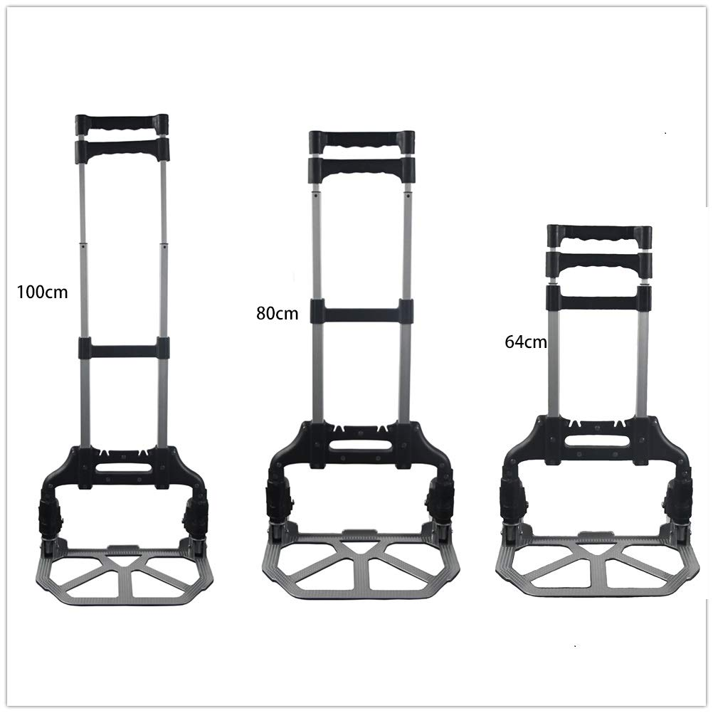 Folding Trolley Hand Truck Foldable Hand Sack Heavy Duty Aluminium Trolley Foldable Capacity For Easy Travel And Versatile 60KG