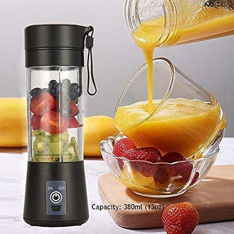 Black Baby Food BPA-free Personal Size Blender USB Juicer Cup Mini ...