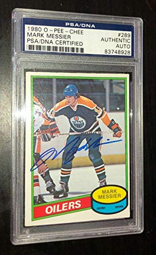 Mark Messier Signed 1980 O-pee-chee Rookie Card #289 Rc Auto - PSA/DNA Certified
