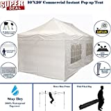 10'x20' Pop up 6 Wall Canopy Party Tent Gazebo Ez White - F Model Upgraded Frame By DELTA Canopies