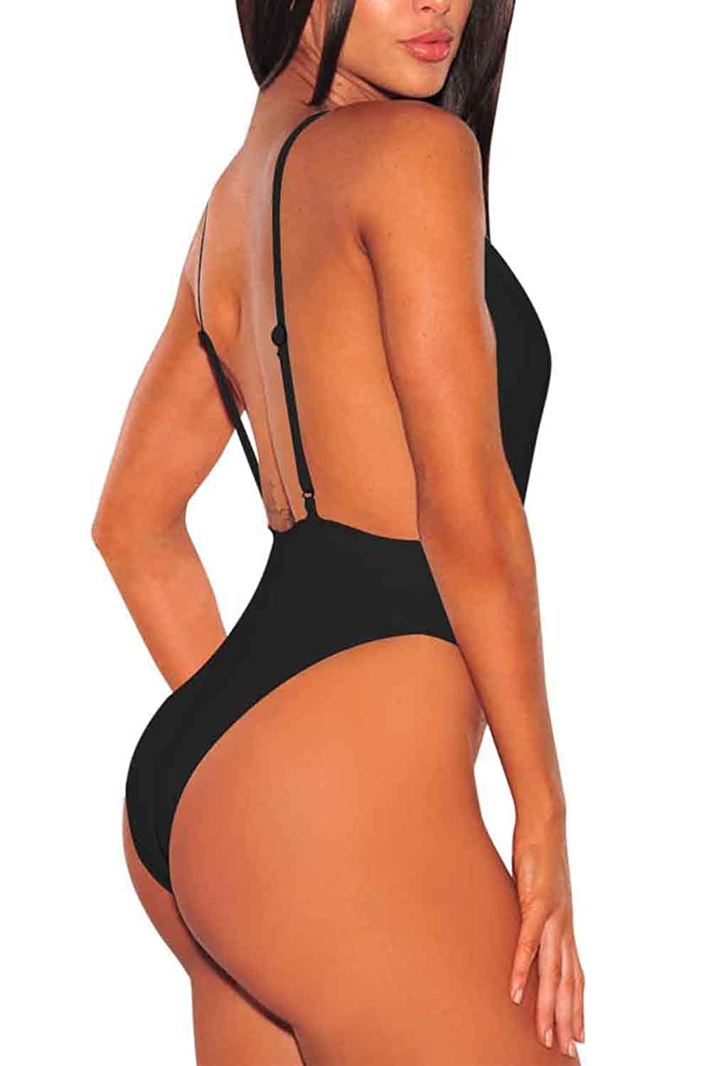 bc0e21c906c Sovoyontee Women's One Piece Sexy Swimsuit High Cut Monokini V Neck Bathing  Suit at Amazon Women's Clothing store: