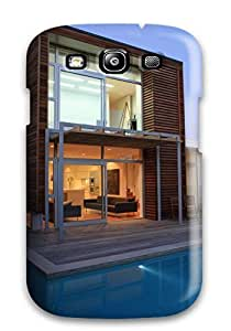 High Impact Dirt/shock Proof Case Cover For Galaxy S3 (architecture Houses )