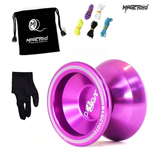 MAGICYOYO ZH T5 Purple Yoyo Ball + Glove + Bag + 5 Strings Set