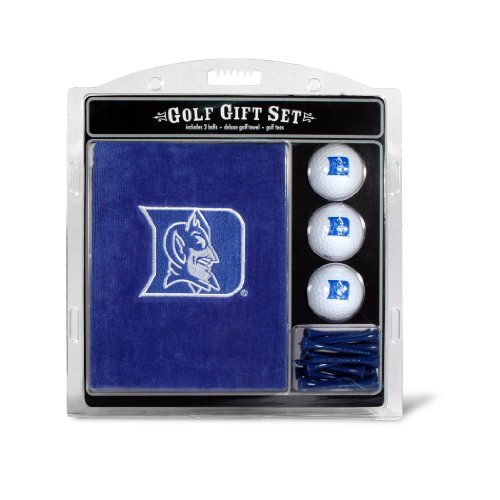 Duke Blue Devils Golf - Team Golf NCAA Duke Blue Devils Gift Set Embroidered Golf Towel, 3 Golf Balls, and 14 Golf Tees 2-3/4