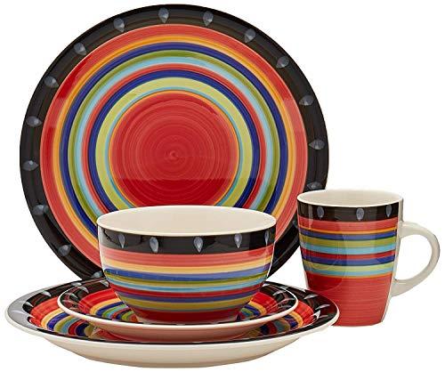 - Gibson Home 97694.16r Casa Stella 16-Piece Dinnerware Set, Red (Limited Edition)