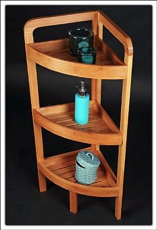 Bambus Eckregal Mit 3 Ablagefachern Hochwertig Da Aus Echtem