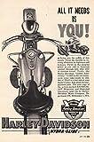 1954 Harley Davidson: All It Needs Is You, Harley Davidson Print Ad