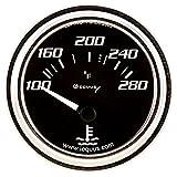 Equus 7262 Water Temperature Gauge - Black