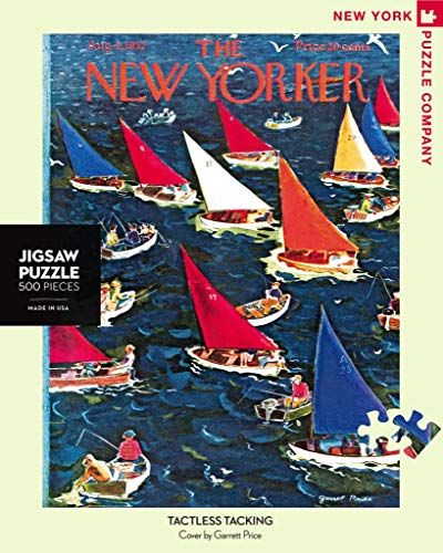 New York Puzzle Company - New Yorker Tactless Tacking - 500 Piece Jigsaw Puzzle