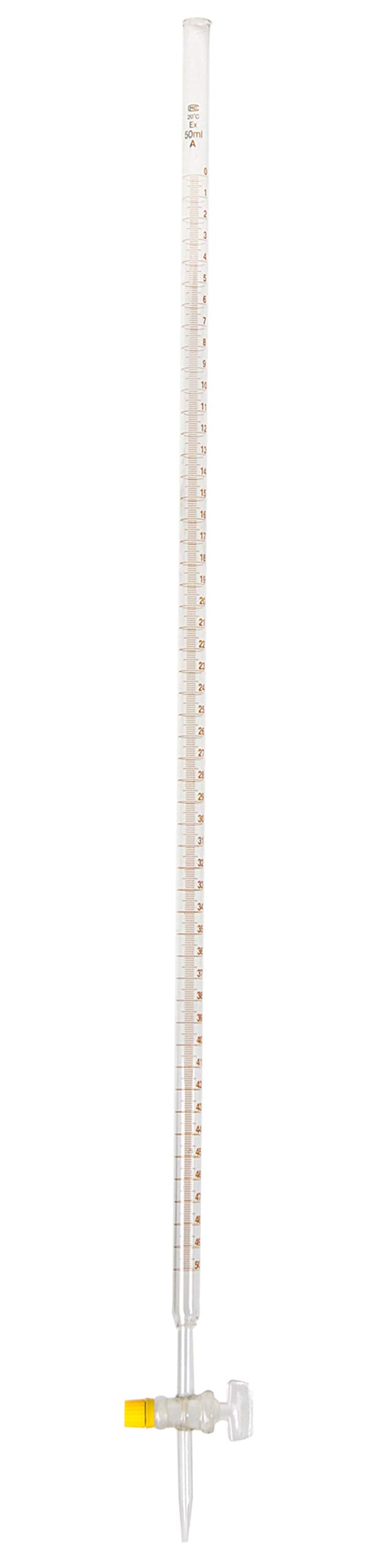 American Educational Borosilicate Glass 50mL Burette, with Ground Glass Stopcock by American Educational Products