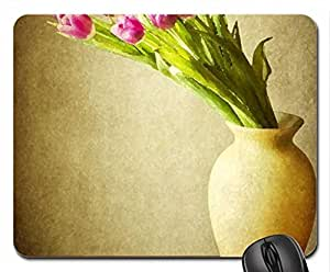 Tulips Mouse Pad, Mousepad (Flowers Mouse Pad, Watercolor style)