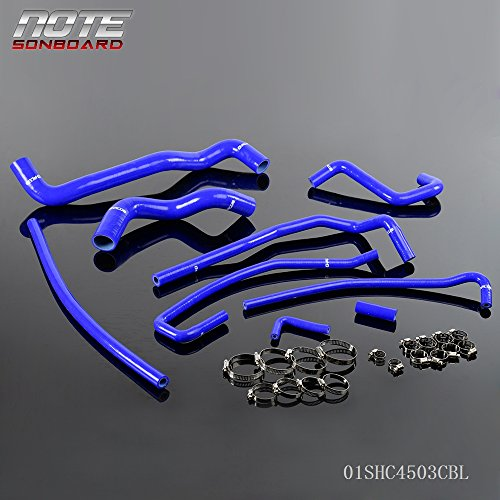 9 Pcs Gplus Silicone Radiator Hose Kit For 91-96 CHEVY CORVETTE 5.7L LT1 (Corvette Radiator Hose)