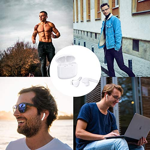 ZBC True Wireless Earbuds Bluetooth V5.0 Headphones Waterproof in-Ear Earphones Noise Cancelling HD Stereo Sweatproof Headsets Smart Touch for Kids and Adults Sport Running Driving Workout Gym