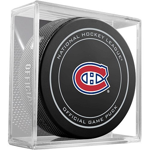fan products of Montreal Canadiens Sherwood Official NHL Game Puck in Cube
