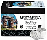 Bestpresso Coffee, French Roast Single Serve K-Cup, 72 Count (Compatible with 2.0 Keurig Brewers) 6 packs of 12 cups