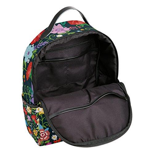 Mochila Talla Única Para Poliéster De Mujer Bolso Multicolor Pinllg 58740qwpxn