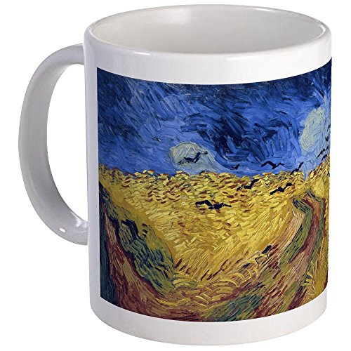 CafePress - Van Gogh Wheatfield With Crows Mug - Unique Coffee Mug, Coffee ()