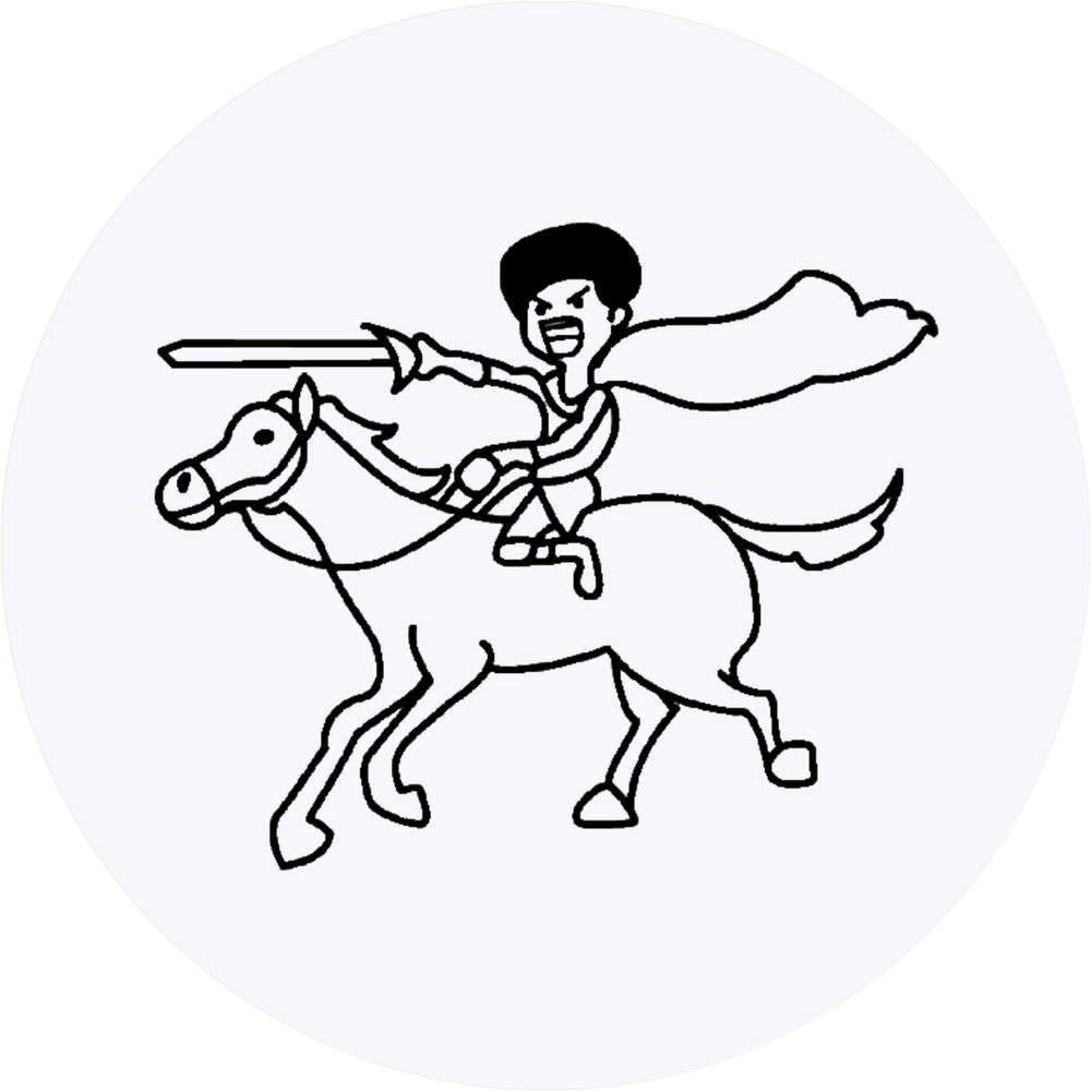 Azeeda 24 x 40mm Redondas Don Quijote Pegatinas (SK00000018 ...