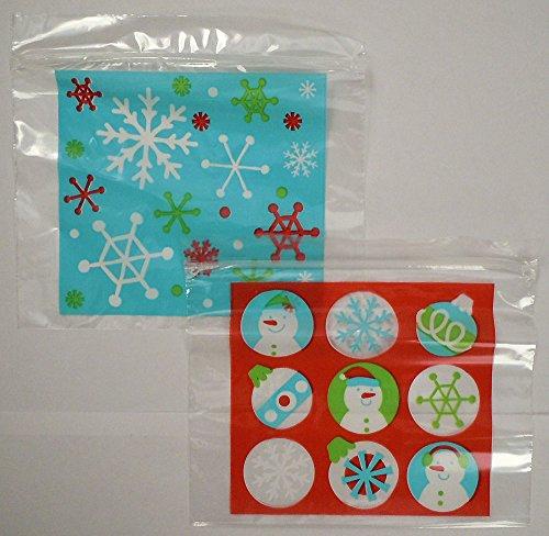 50ct Christmas Zipper Seal Sandwich Holiday Treat Bags