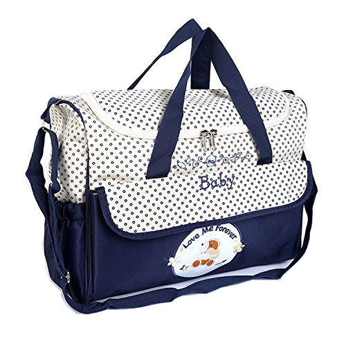 BigForest Multifunction Baby Diaper Bag Large Capacity Travel Mummy Bag Tote Handbag Blue
