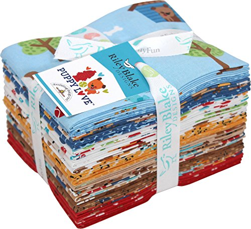 Doodlebug Design Puppy Love 18 Fat Quarters Riley Blake Designs FQ-6930-18 ()