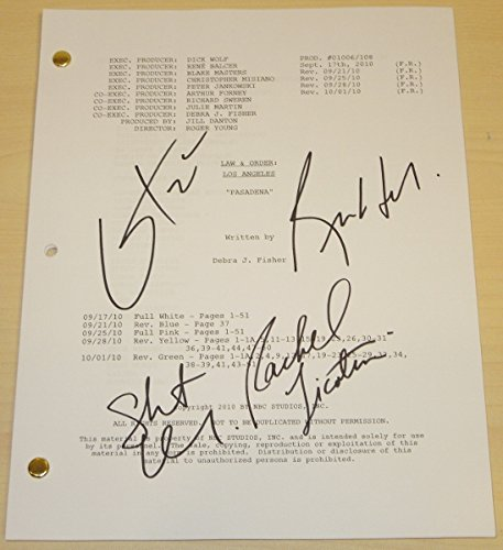 Law & Order: LA Autographed - Hand Signed Full Script by Corey Stoll, Skeet Ulrich, Rachel Ticotin, and Regina Hall - Law and Order Los Angeles - Guaranteed to pass PSA or JSA