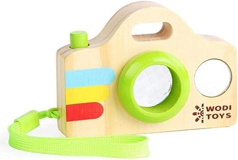 Amazon Co Jp キッズカメラ教育玩具面白い赤ちゃんカメラ万華鏡子供のための赤ちゃんのおもちゃ脳ゲーム木製カメラ誕生日プレゼント ホーム キッチン
