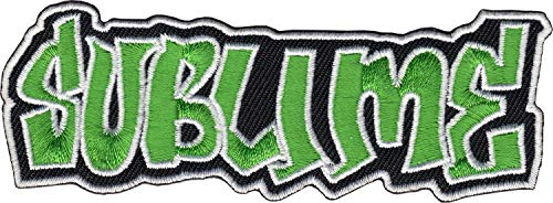 SUBLIME Logo Patch Embroidered Iron On Ska Punk Reggae