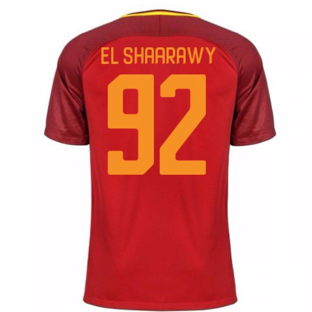 2017-18 Roma Home Shirt Kids (El Shaarawy 92) B077PRXB6RBurgundy SB 25-27\