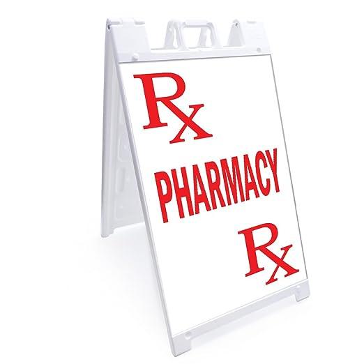SignMission Cartel de Farmacia con gráficos en Cada Lado, 61 ...