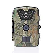 AOZBZ 12MP 1080P Trail and Game Hunting Camera, Waterproof Infrared Wildlife Camera 42 IR LEDs Scouting Camera Night Vision up to 65ft, 0.5s Motion Activated Surveillance Camera