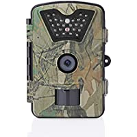 Trail Game Camera, ALLOMN 1080P HD 12MP Wildlife Hunting Camera with 0.5s Trigger Speed, 65ft Infrared Night Vision, 24 IR LEDs, 90 Degree Detect Angle and 2.4 LCD Screen