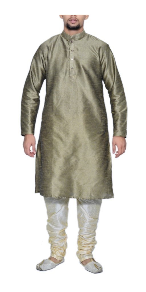 MAG Men'S Copper Kurta With Churidhar 42 Gold