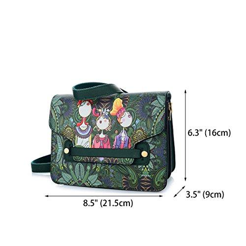 bolsos y clutches Bolsos Shoppers Mujer mano Verde bandolera Carteras hombro y de de EqwFwC