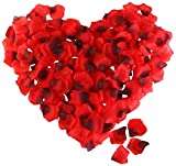 ROSENICE 2000 Piece Silk Rose Petals Artificial Flower Petals for Valentine Wedding Party's Decoration, Red