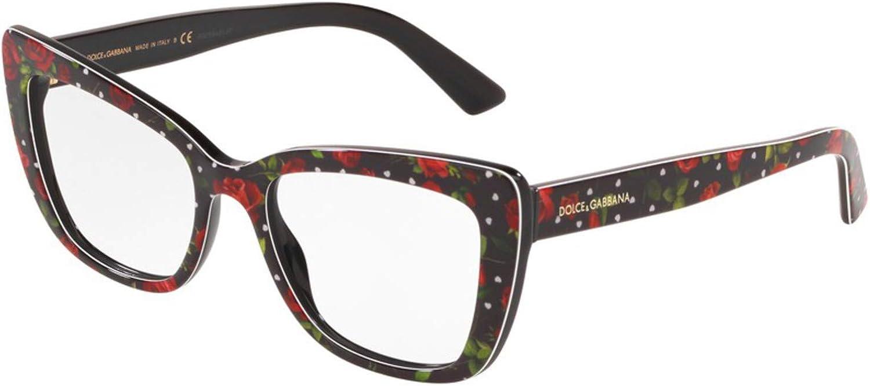 Dolce/&Gabbana DG3308 Eyeglass Frames 3229-53 Print DG3308-3229-53