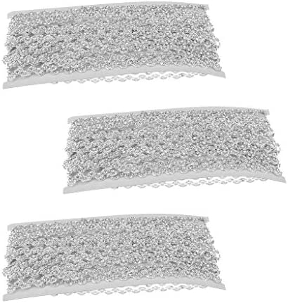 freneci 3x 10ヤードラインストーンビーズリボンチェーントリムクラフト縫製装飾