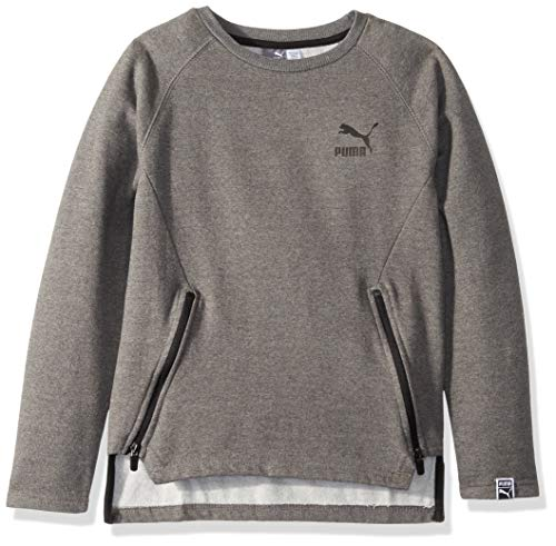 PUMA Big Boys' Fleece Sweatshirt, Charcoal Heather, L
