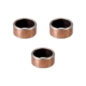 uxcell Bearing Sleeve 12mm Bore x 18mm OD x 20mm Length Self-Lubricating Sintered Bronze Bushings 3pcs