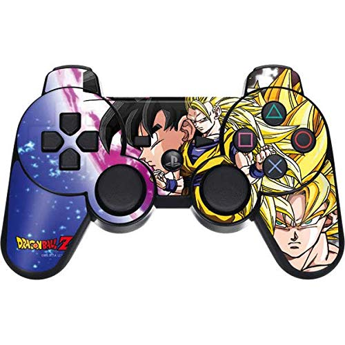 Skinit Dragon Ball Z Goku Forms PS3 Dual Shock Wireless Controller Skin - Officially Licensed Dragon Ball Z Gaming Decal - Ultra Thin, Lightweight Vinyl Decal Protection (Game Ps3 Dragon Ball Z)