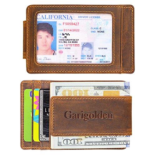Review Garigolden Money Clip, Leather