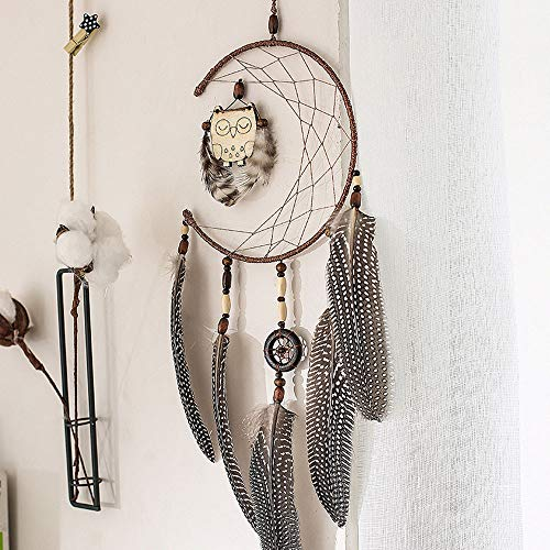Little Story  Dream Catcher Clearance , 1x Dream Catcher with Feathers Wooden Owl Wall Hanging Decoration Ornament Gift -