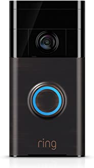 Ring Video Doorbell with HD Video, Motion Activated Alerts, Easy Installation - Venetian Bronze