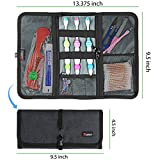 Cable Organizer, Travel Organizer, Valkit best Electronics Accessories Wire Cord Cables Tires Wrap Case Cover Bags Rolling Organizer Can for Weekender Travel Management,Medium Size(Dark Grey)