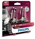 vw auto headlights - Philips H7 VisionPlus Upgrade Headlight Bulb with up to 60% More Vision, 2 Pack