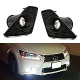 iJDMTOY Lexus F Sport 15W High Power Projector LED Fog Light Kit For 2013-2015 Lexus GS350 GS460 GS450h, 6000K Xenon White