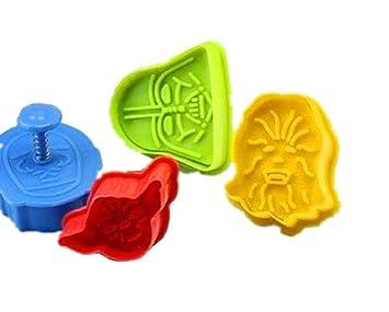 SHINA Stampo per biscotti, set 4 stampi da forno da cucina, colori ...