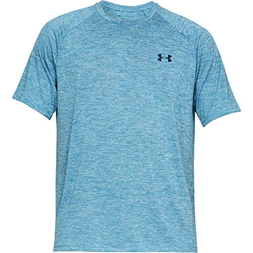 Under Armour Men's Tech 2.0 Short Sleeve T-Shirt, Ether Blue (452)/Academy, 3X-Large by Under Armour (Image #5)